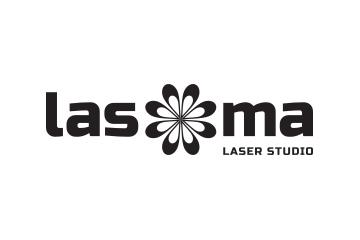 Logo Lasoma čierno-biela verzia
