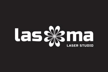 Logo Lasoma negatív