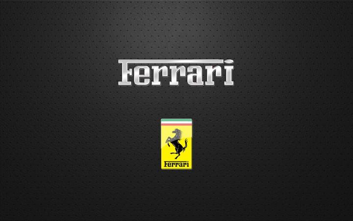 Ikonické logo Ferrari.