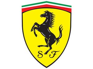 Emblém Ferarri logo.
