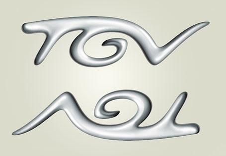 TGV logo a jeho podoba so slimákom