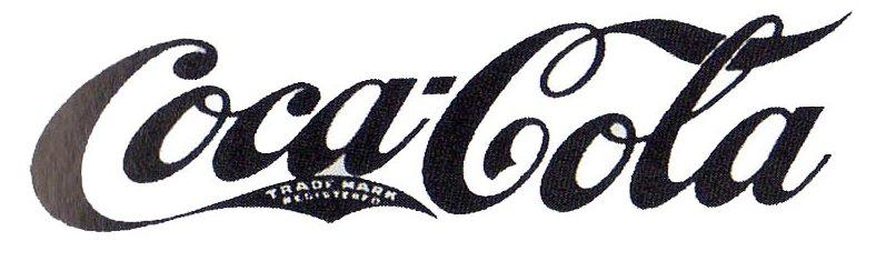 Prvý návrh loga s písmom Spencerian Script.